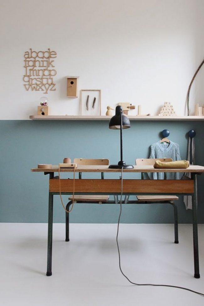 Шикарный интерьер комнаты школьника в стиле ретро