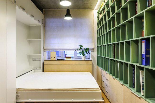 Шкаф-кровать-трансформер в разложенном виде
