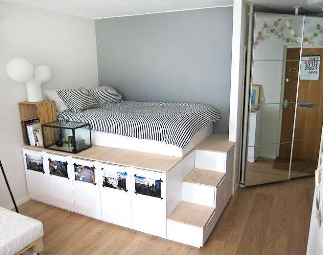 Мебель-трансформер с ящиками для хранения вещей и спальным местом от IKEA