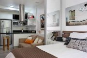 Фото 9 Дизайн однокомнатной квартиры: как оптимально использовать каждый метр и 80 лучших современных интерьеров