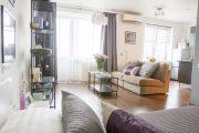 Фото 11 Дизайн однокомнатной квартиры: как оптимально использовать каждый метр и 80 лучших современных интерьеров