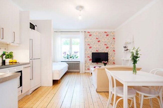 Уютная светлая однокомнатная квартира