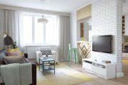Фото 37 Дизайн однокомнатной квартиры: как оптимально использовать каждый метр и 80 лучших современных интерьеров