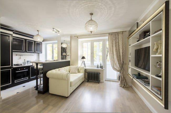 Дизайн однокомнатной квартиры 30 кв. м: классический стиль в оформлении однокомнатной квартиры в хрущевке