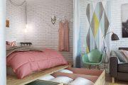 Фото 2 Интерьер однокомнатной квартиры 40 кв. метров: все тонкости зонирования и подбора мебели