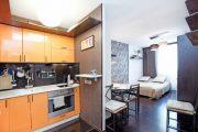 Фото 3 Современный дизайн однокомнатной квартиры 40 кв. метров: идеи зонирования и 80+ фото стильных проектов