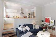 Фото 4 Интерьер однокомнатной квартиры 40 кв. метров: все тонкости зонирования и подбора мебели