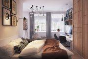 Фото 5 Современный дизайн однокомнатной квартиры 40 кв. метров: идеи зонирования и 80+ фото стильных проектов