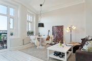 Фото 7 Современный дизайн однокомнатной квартиры 40 кв. метров: идеи зонирования и 80+ фото стильных проектов