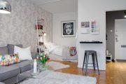Фото 39 Современный дизайн однокомнатной квартиры 40 кв. метров: идеи зонирования и 80+ фото стильных проектов