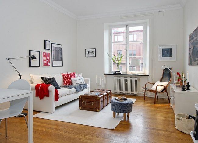 Скандинавский стиль в оформлении однокомнатной квартиры