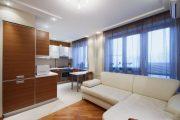 Фото 11 Современный дизайн однокомнатной квартиры 40 кв. метров: идеи зонирования и 80+ фото стильных проектов