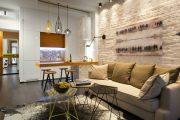 Фото 14 Современный дизайн однокомнатной квартиры 40 кв. метров: идеи зонирования и 80+ фото стильных проектов