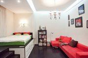 Фото 15 Современный дизайн однокомнатной квартиры 40 кв. метров: идеи зонирования и 80+ фото стильных проектов