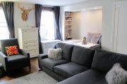 Фото 16 Современный дизайн однокомнатной квартиры 40 кв. метров: идеи зонирования и 80+ фото стильных проектов