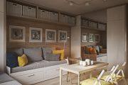 Фото 18 Современный дизайн однокомнатной квартиры 40 кв. метров: идеи зонирования и 80+ фото стильных проектов