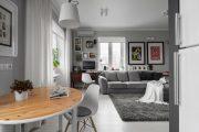 Фото 20 Современный дизайн однокомнатной квартиры 40 кв. метров: идеи зонирования и 80+ фото стильных проектов