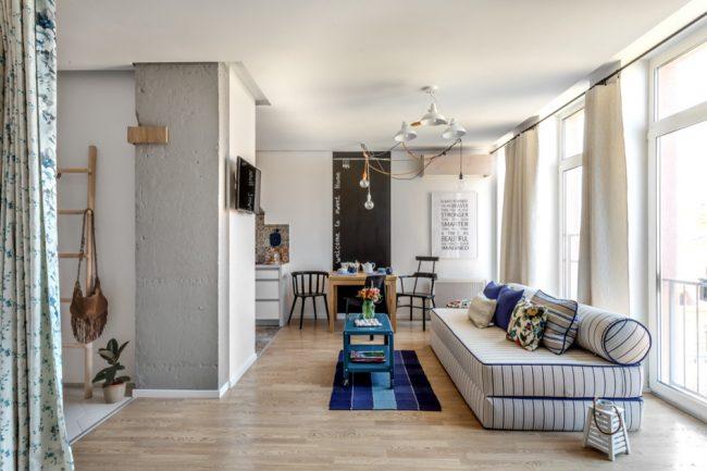Однокомнатная квартира с зонированым пространством