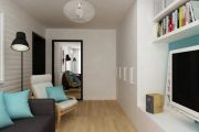 Фото 21 Современный дизайн однокомнатной квартиры 40 кв. метров: идеи зонирования и 80+ фото стильных проектов