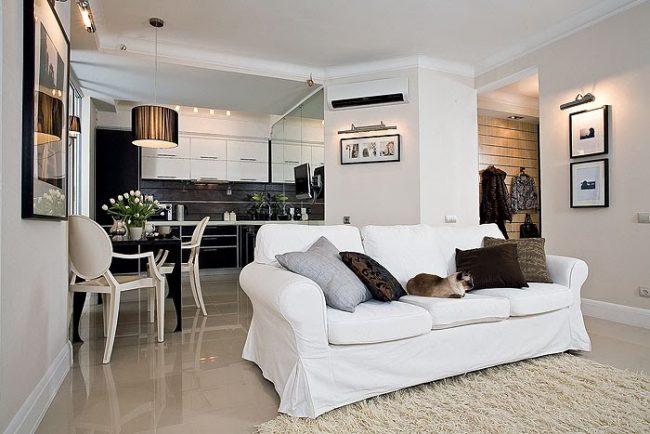 Однокомнатная квартира в стиле модерн