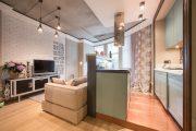 Фото 25 Современный дизайн однокомнатной квартиры 40 кв. метров: идеи зонирования и 80+ фото стильных проектов
