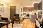 Фото 26 Современный дизайн однокомнатной квартиры 40 кв. метров: идеи зонирования и 80+ фото стильных проектов