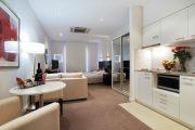 Фото 28 Современный дизайн однокомнатной квартиры 40 кв. метров: идеи зонирования и 80+ фото стильных проектов