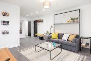 Фото 30 Современный дизайн однокомнатной квартиры 40 кв. метров: идеи зонирования и 80+ фото стильных проектов