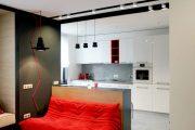 Фото 32 Современный дизайн однокомнатной квартиры 40 кв. метров: идеи зонирования и 80+ фото стильных проектов