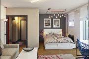 Фото 34 Современный дизайн однокомнатной квартиры 40 кв. метров: идеи зонирования и 80+ фото стильных проектов