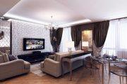 Фото 36 Интерьер однокомнатной квартиры: все тонкости современного дизайна и 80+ фото стильных реализаций