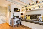 Фото 37 Современный дизайн однокомнатной квартиры 40 кв. метров: идеи зонирования и 80+ фото стильных проектов