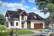 Фото 35 Дома с мансардой и гаражом: что нужно знать перед постройкой и 75+ лучших современных проектов