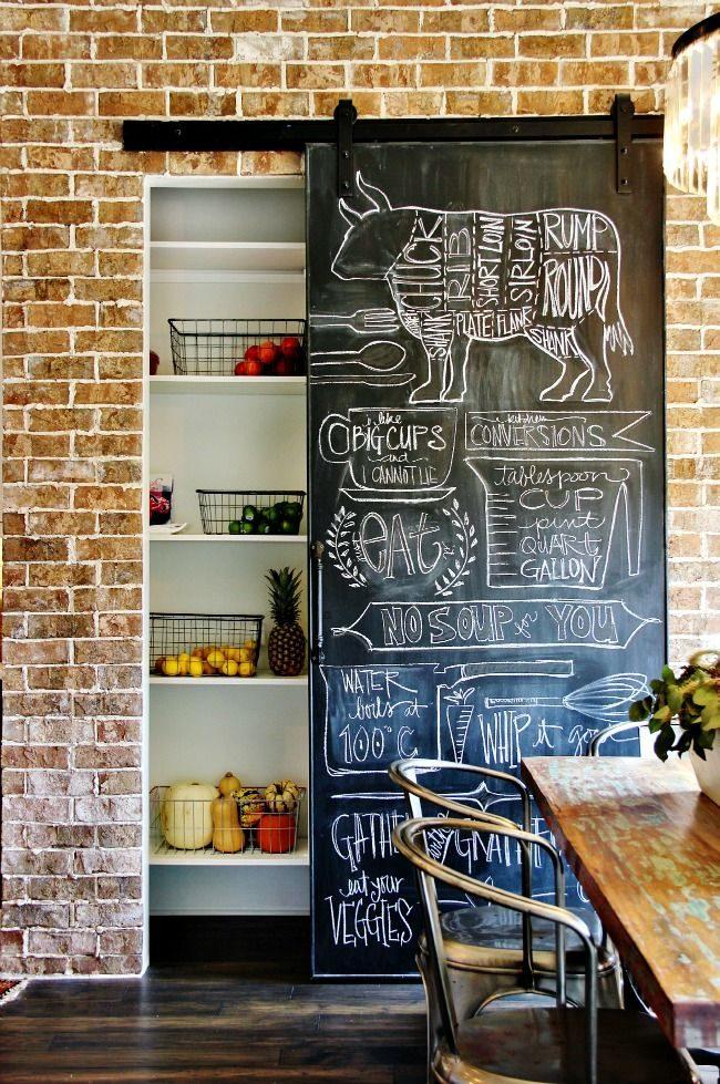 Системы хранения для кухни: кладовая в интерьере стиля лофт