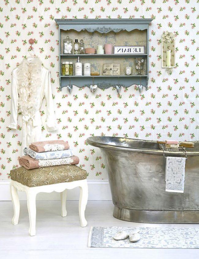 Ретро-ванна – настоящая находка для ванной комнаты в стиле прованс