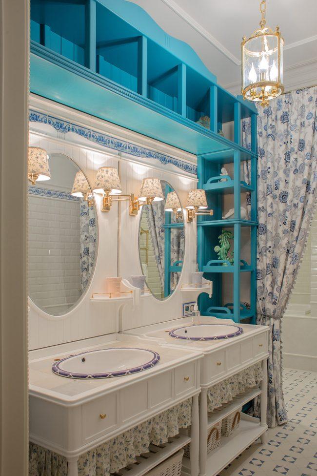 Красивые керамические раковины удачно дополнят интерьер стиля прованс