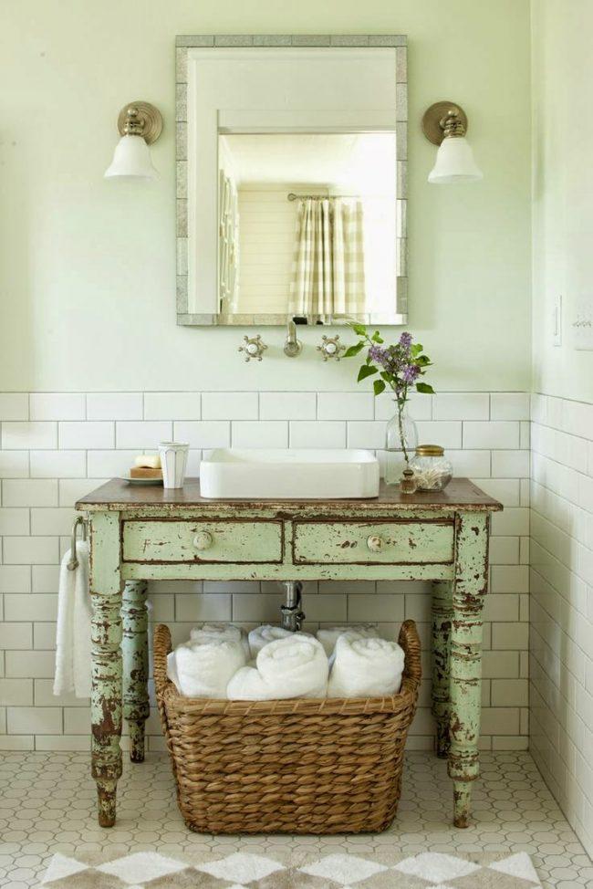 Старая мебель может стать отличным элементом декора винтажного интерьера