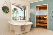 Фото 16 Оригинальные проекты дома с баней под одной крышей: все о реализации и 65+ практичных и надежных вариантов