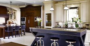 Барная стойка для кухни: материалы, особенности освещения и 75 элегантных интерьерных воплощений фото
