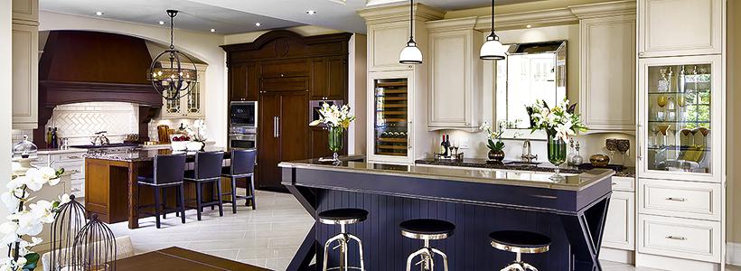 Барная стойка для кухни: материалы, особенности освещения и 75 элегантных интерьерных воплощений
