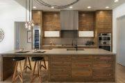 Фото 9 Барная стойка для кухни: материалы, особенности освещения и 75 элегантных интерьерных воплощений