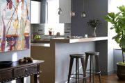Фото 11 Барная стойка для кухни: материалы, особенности освещения и 75 элегантных интерьерных воплощений