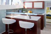 Фото 16 Барная стойка для кухни: материалы, особенности освещения и 75 элегантных интерьерных воплощений