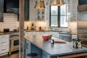Фото 17 Барная стойка для кухни: материалы, особенности освещения и 75 элегантных интерьерных воплощений