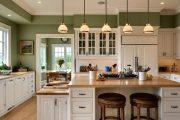 Фото 33 Барная стойка для кухни: материалы, особенности освещения и 75 элегантных интерьерных воплощений