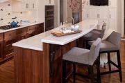 Фото 39 Барная стойка для кухни: материалы, особенности освещения и 75 элегантных интерьерных воплощений