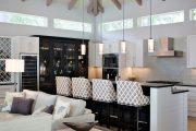 Фото 40 Барная стойка для кухни: материалы, особенности освещения и 75 элегантных интерьерных воплощений