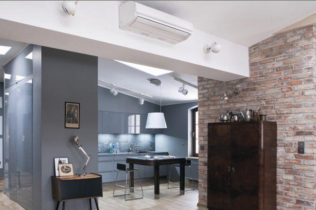 Удобное месторасположение кондиционера в квартире - студии