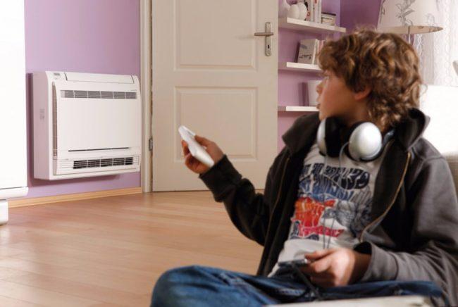 Настенный бесшумный кондиционер с пультом, автоматической очисткой и функцией увлажнения, идеально подойдет в детскую комнату