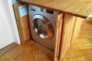 Фото 2 Встроенная стиральная машина на кухне: советы по выбору и 60+ оптимальных вариантов размещения